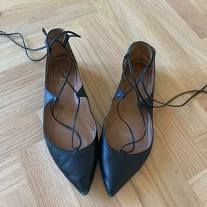 Aquazurra Christy Flat Leather Ballerinas